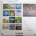 Calendrier 2018 reproductions 2