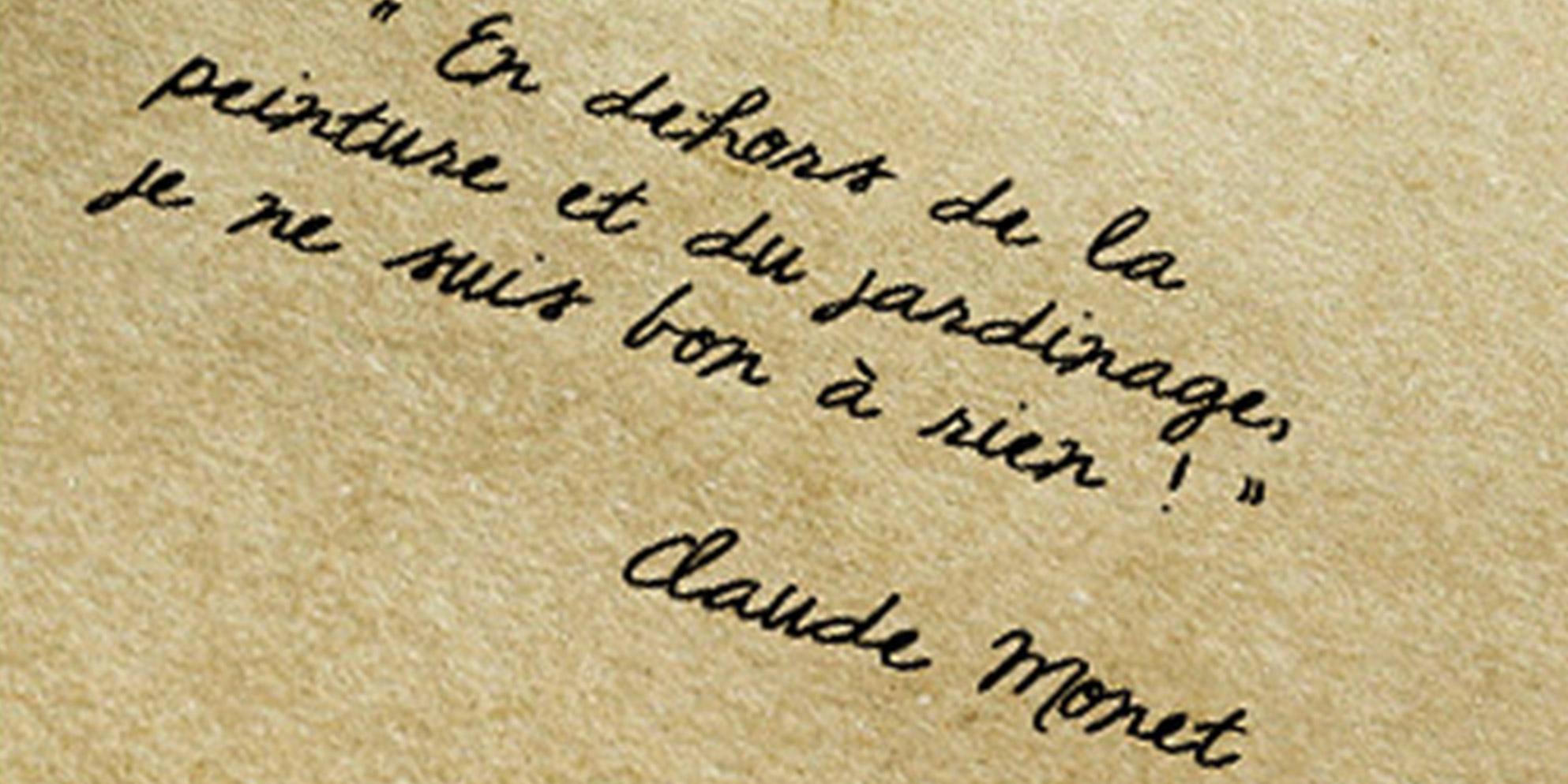 Fondation Claude Monet Citations