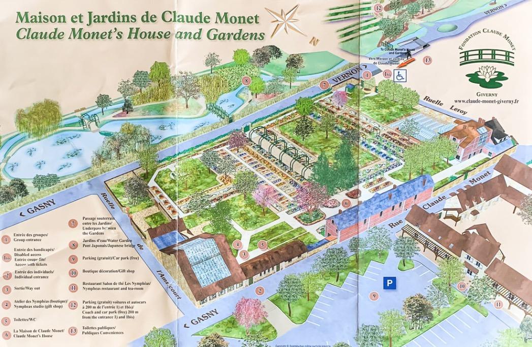 莫內花園 地圖 交通方式